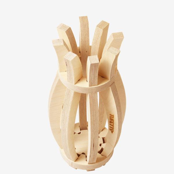 Tulıp Vase Ahşap Vazo resmi