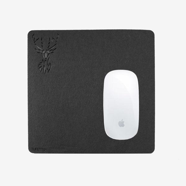 Work wıth Deer Mousepad-Siyah resmi
